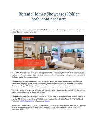 Botanic homes showcases kohler bathroom products