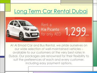 Long term car rental dubai
