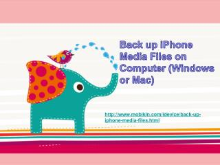 Back up iPhone Media Files on Computer(Windows or Mac)