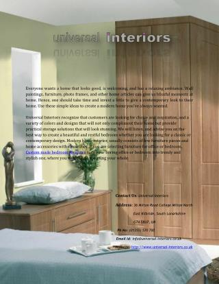 Find Custom Made & Made to Measure Bedroom Furniture