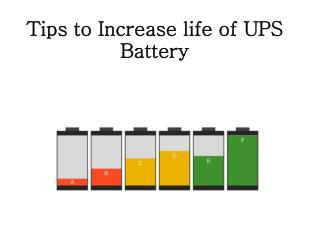 6 Tips to Increase UPS Battery Life