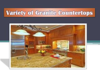 Variety of Granite Countertops