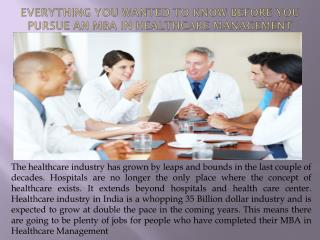 What To Keep in Mind Before pursue MBA in Healthcare Management