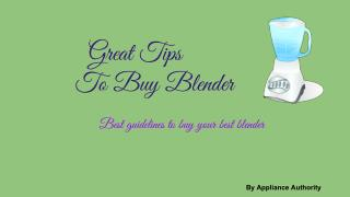 Amazing Blender buying Guide