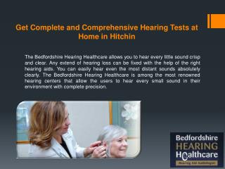 Get Complete and Comprehensive Hearing Tests at Home in Hitchin