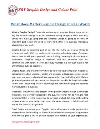 What Does Matter Graphic Design in Real World