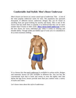 Comfortable And Stylish- Men's Boxer Underwear
