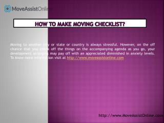 How to Prepare a Moving Checklist for Relocation?
