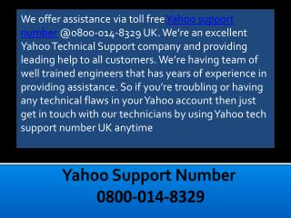 Yahoo Mail Technical Support Number 0800-014-8329 For Instant Help