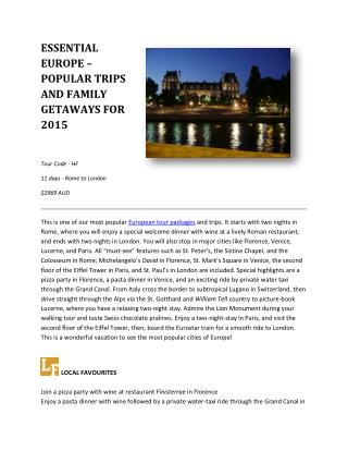 European Tour Packages - Globus Tours