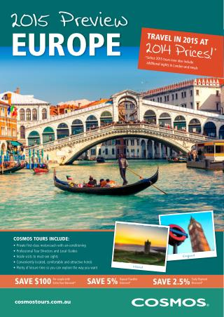 Europe Tour Packages - Cosmos Tours