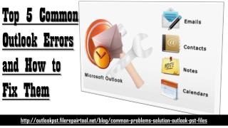 Top 5 Common Outlook Errors And How To Fix Them