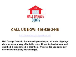 Residential & Commercial Garage Door Repair Toronto - Hall Garage Doors