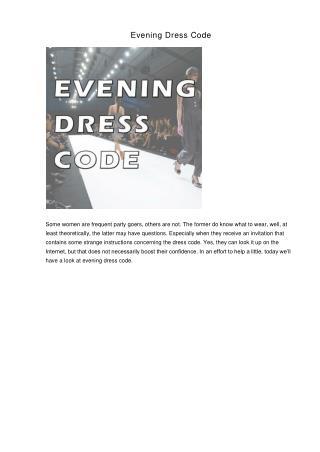 Evening Dress Code