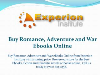 Buy Romance, Adventure and War Ebooks Online