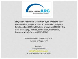 Ethylene Copolymers Market: EVA material is the most prominent for various end-user applications.