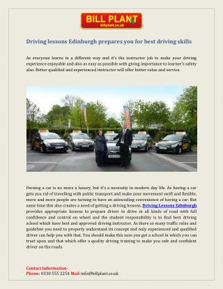 Driving Lesson Edinburgh