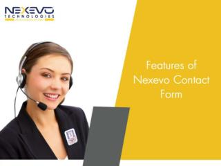 Features of Nexevo Contact Form