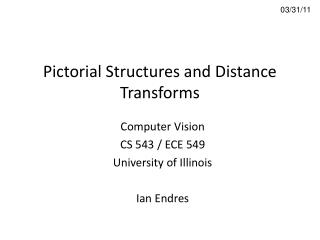 Pictorial Structures and Distance Transforms