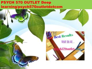 PSYCH 570 OUTLET Deep learning/psych570outletdotcom