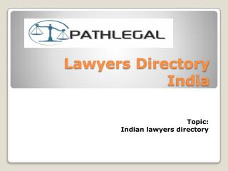 Lawyers Directory India| Counsel Directory India