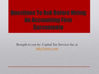 Questions To Ask Before Hiring An Accounting Firm Sacramento