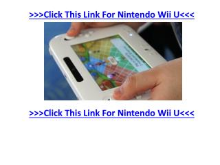 Hottest Nintendo Wii U Game Listing