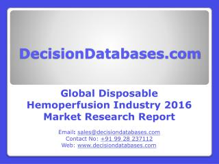 Disposable Hemoperfusion Market Analysis 2016 Development Trends