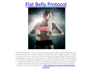 Decrease Your Belly Fat With Flat Belly Protocol