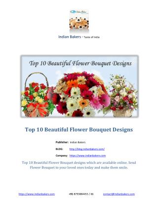 Top 10 Beautiful Flower Bouquet Designs