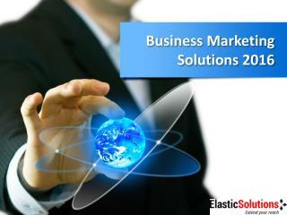 Leading Marketing Company   Business Marketing Solution 2016