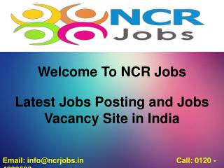 Latest Jobs posting and jobs vacancy site in India