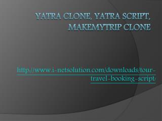 Yatra Clone, Yatra Script, Makemytrip Clone