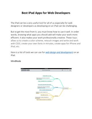 Best IPad Apps for Web Developers