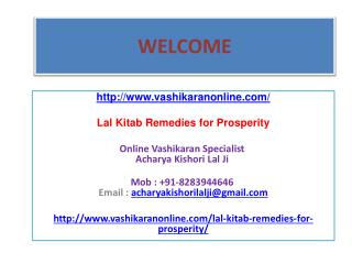 Lal Kitab Remedies for Prosperity--- 91-8283944646