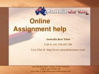 Online Assignment help | Online Homework Help