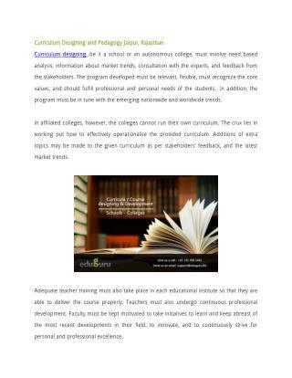 Curriculum Designing and Pedagogy Jaipur, Rajasthan