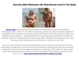 Garcinia Melt Also Solves the Problem of Snoring