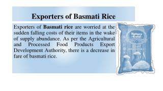 BASMATI RICE EXPORTERS