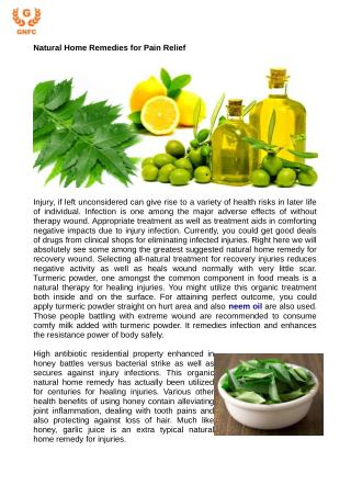 Natural Home Remedies for Pain Relief