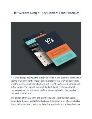 Flat Website Design - Key Elements and Principles