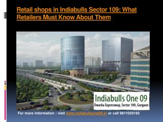 Retail shops in Indiabulls Sector 109: What Retailers Must Know About Them