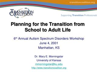 Planning for the Transition from School to Adult Life