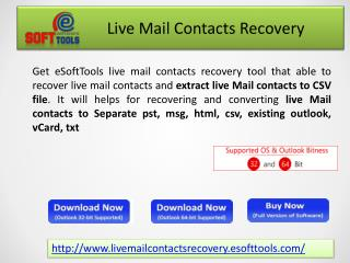 Recover Live Mail Contacts