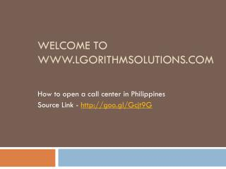 How to open a call center in Philippines