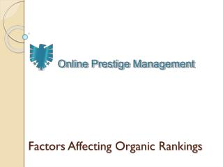 Factors Affecting Organic Rankings
