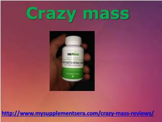 How Crazy Mass Supplements helps in Gaining Muscles ?