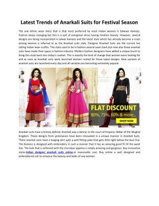 Latest Trends of Anarkali Suits for Festival Season