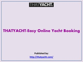THATYACHT-Easy Online Yacht Booking