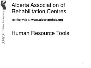 Alberta Association of  Rehabilitation Centres